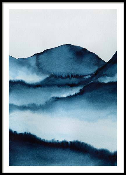 Watercolor Mountains Poster i gruppen Posters  / Konstmotiv hos Desenio AB (10124)