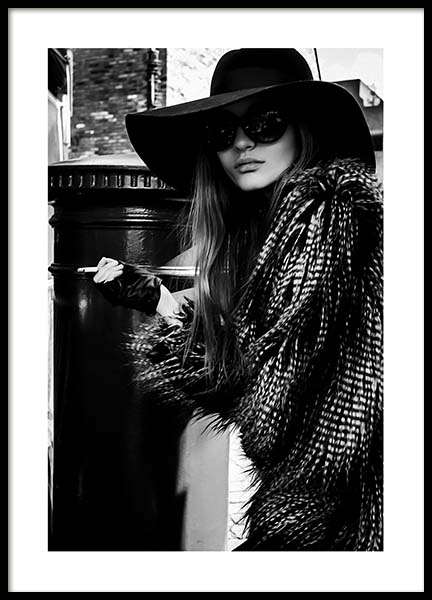 Lady In The Hat Poster i gruppen Posters  / Storlekar / 50x70cm hos Desenio AB (10163)