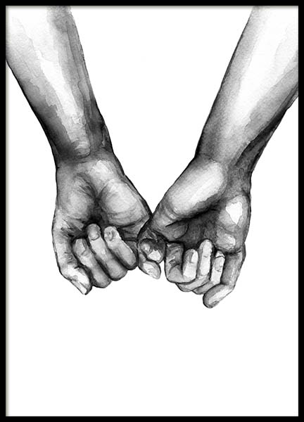 Watercolor Hands No3 Poster i gruppen Posters  / Illustrationer hos Desenio AB (10203)