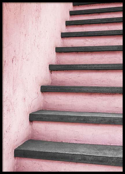 Pink Stairs Poster i gruppen Posters  / Fotokonst hos Desenio AB (10266)