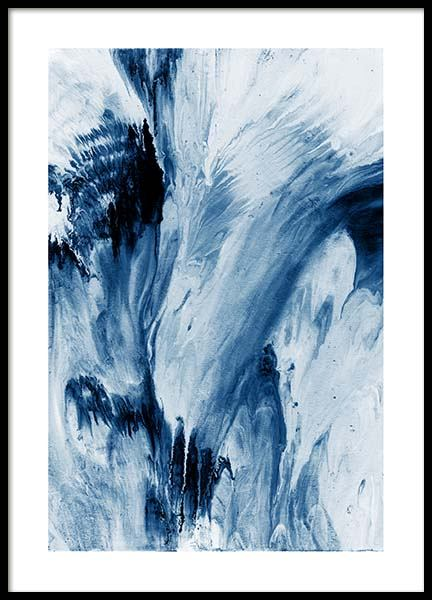 Abstract Blue Poster i gruppen Posters  / Konstmotiv hos Desenio AB (10273)