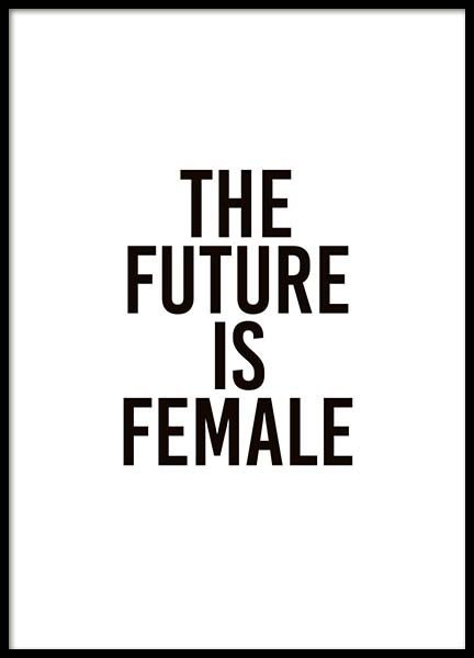 The Future Is Female Poster i gruppen Posters  / Texttavlor hos Desenio AB (10293)