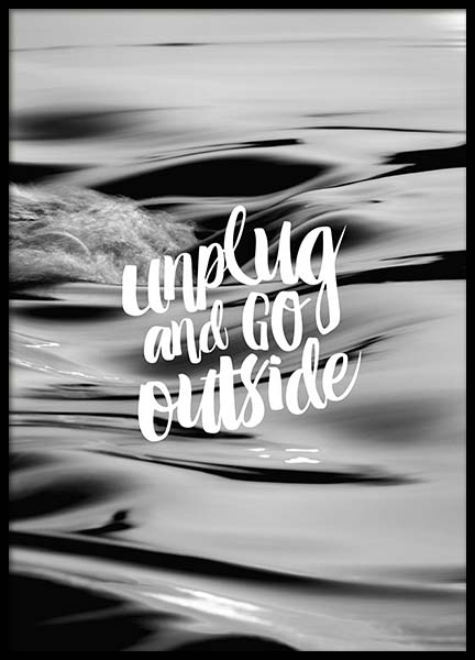 Unplug And Go Outside Poster i gruppen Posters  / Mindfulness hos Desenio AB (10299)