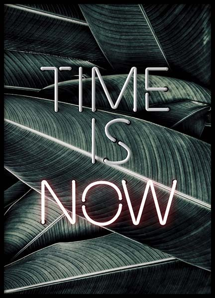 Time Is Now Neon Poster i gruppen Posters  / Storlekar / 50x70cm hos Desenio AB (10301)