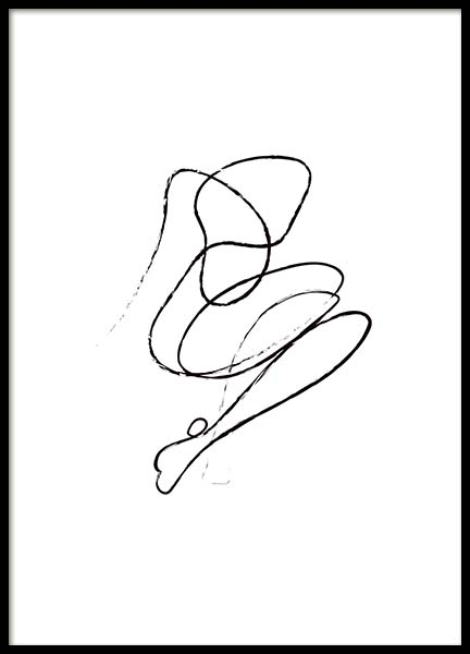 Abstract Nudes No1 Poster