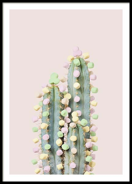 Candy Cactus Poster i gruppen Posters  / Storlekar / 50x70cm hos Desenio AB (10340)