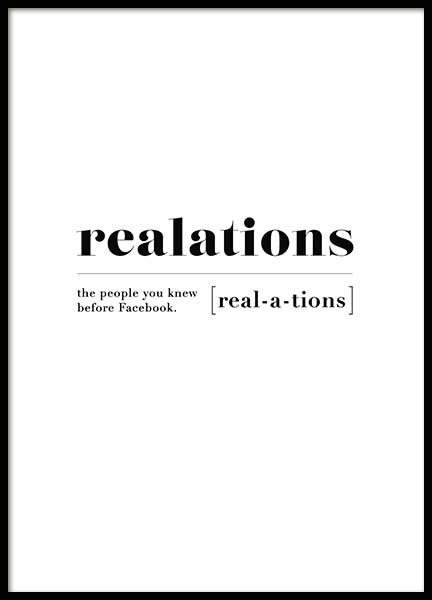 Realations Poster i gruppen Posters  / Texttavlor hos Desenio AB (10375)