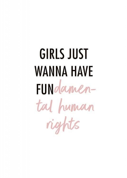 Girls Wanna Have Fun Poster i gruppen Posters  / Texttavlor hos Desenio AB (10525)