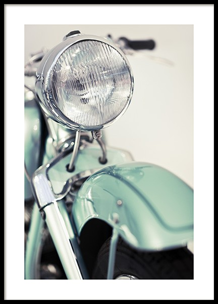 Retro Motorcycle Poster