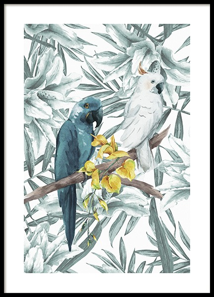 Tropical Bird No3 Poster i gruppen Posters  / Illustrationer hos Desenio AB (10650)
