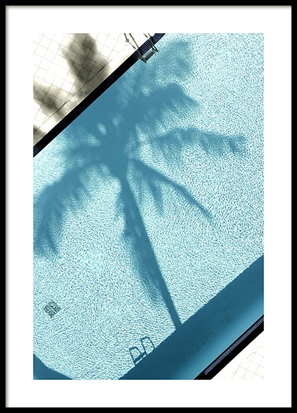 Pool and Palm Tree Poster i gruppen Posters  / Fotokonst hos Desenio AB (10668)