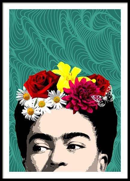 Shy Frida Poster