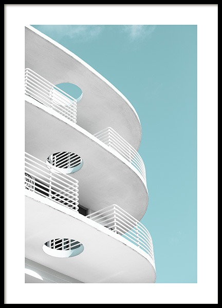 Art Deco Ocean Drive Poster i gruppen Studio Collections / Studio Coast to Coast / Miami hos Desenio AB (10766)