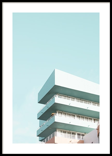 Pastel Balconies Poster i gruppen Studio Collections / Studio Coast to Coast / Miami hos Desenio AB (10767)