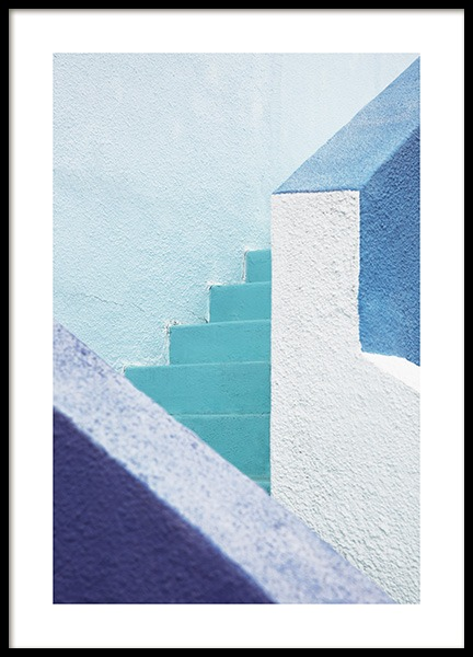 Blue Stairs Poster i gruppen Studio Collections / Studio Coast to Coast / Miami hos Desenio AB (10775)