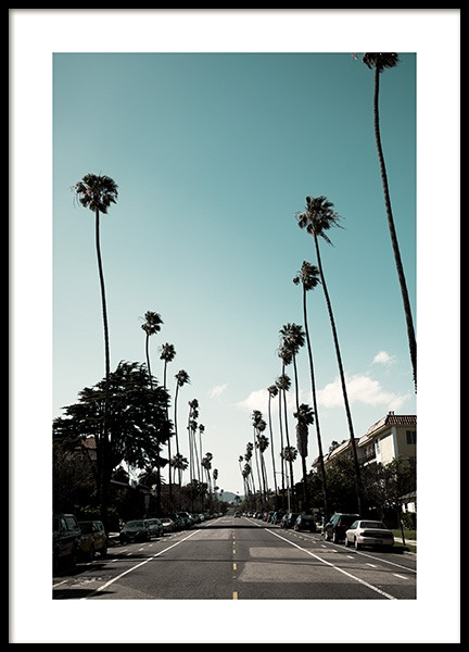 Street of Los Angeles Poster