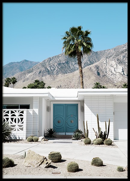 Blue Door Palm Springs Poster