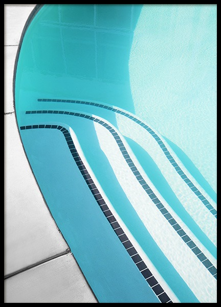 Pool Stairs Poster i gruppen Posters  / Fotokonst hos Desenio AB (10809)