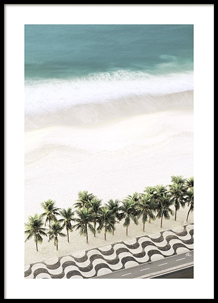 Row of Palm Trees Poster i gruppen Posters  / Storlekar / 50x70cm hos Desenio AB (10887)