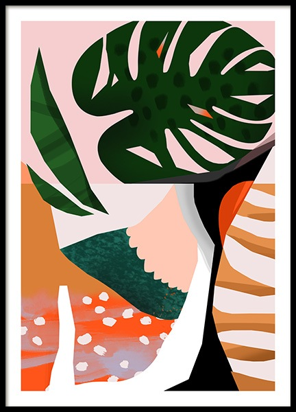 Abstract Garden No1 Poster i gruppen Posters  / Konstmotiv hos Desenio AB (10937)