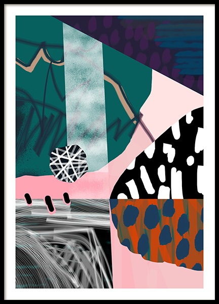 Abstract Garden No2 Poster i gruppen Posters  / Konstmotiv hos Desenio AB (10938)