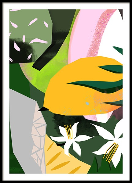 Abstract Garden No3 Poster i gruppen Posters  / Konstmotiv hos Desenio AB (10939)