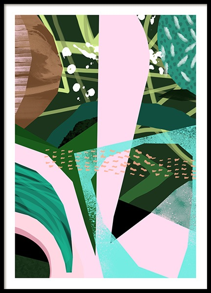 Abstract Garden No5 Poster i gruppen Posters  / Konstmotiv hos Desenio AB (10941)