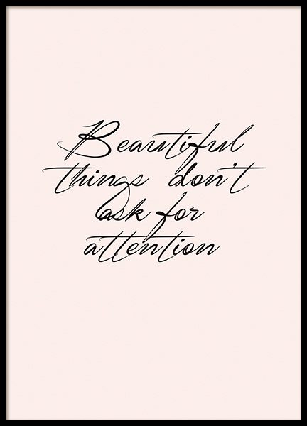 Beautiful Things Poster i gruppen Posters  / Texttavlor hos Desenio AB (10994)