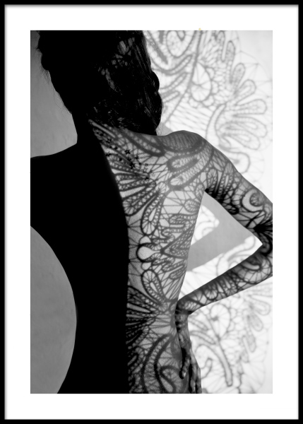 Lace Shadow Poster i gruppen Posters  / Fotokonst hos Desenio AB (11043)