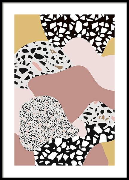 Terrazzo Collage No2 Poster