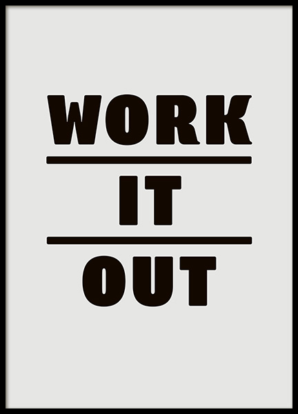 Work it Out Poster i gruppen Posters  / Texttavlor hos Desenio AB (11082)