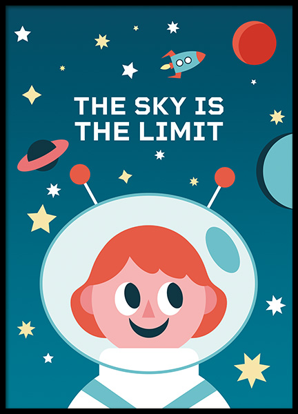 The Sky is the Limit Poster i gruppen Posters  / Barntavlor hos Desenio AB (11164)