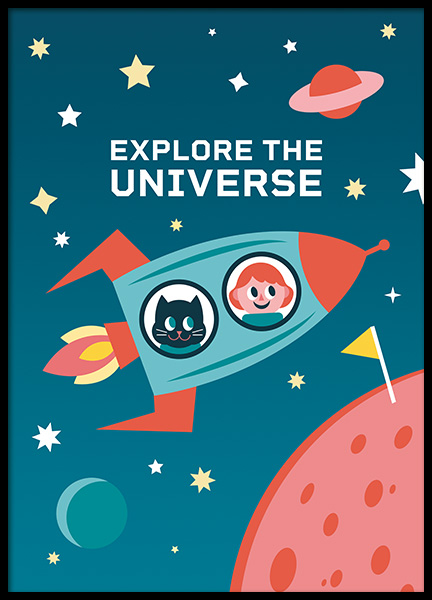 Explore the Universe Poster i gruppen Posters  / Barntavlor hos Desenio AB (11165)