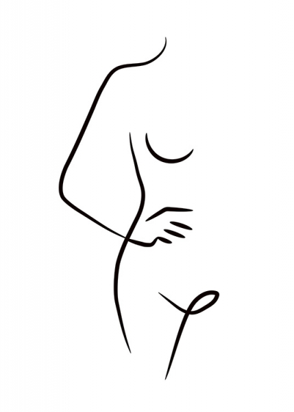 Nude Ink Drawing Poster i gruppen Posters  / Illustrationer hos Desenio AB (11300)