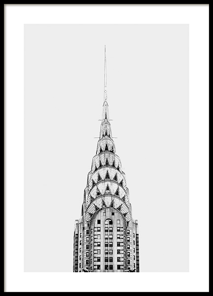 Chrysler Building Poster i gruppen Studio Collections / Studio Cosmopolitan / New York hos Desenio AB (11306)