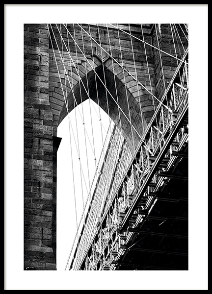 Brooklyn Bridge Detail Poster i gruppen Studio Collections / Studio Cosmopolitan / New York hos Desenio AB (11309)
