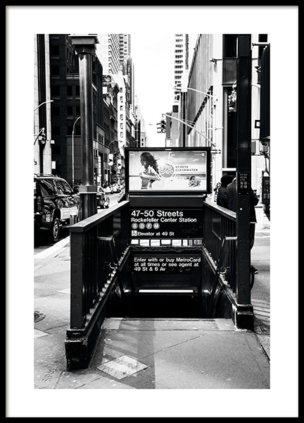 NYC Subway Poster i gruppen Studio Collections / Studio Cosmopolitan / New York hos Desenio AB (11310)