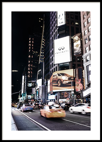 Times Square by Night Poster i gruppen Posters / Fotokonst hos Desenio AB (11322)