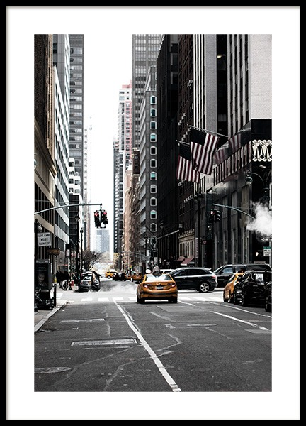 New York Street Poster i gruppen Studio Collections / Studio Cosmopolitan / New York hos Desenio AB (11326)