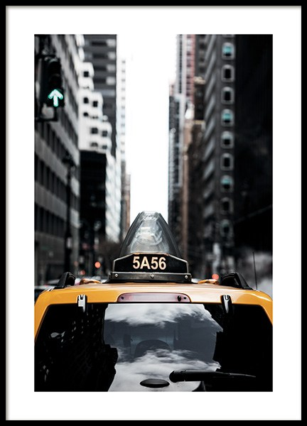 NYC Taxi Poster i gruppen Posters  / Fotokonst hos Desenio AB (11327)
