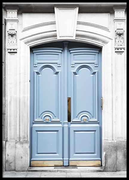 Paris Blue Door Poster i gruppen Studio Collections / Studio Cosmopolitan hos Desenio AB (11353)