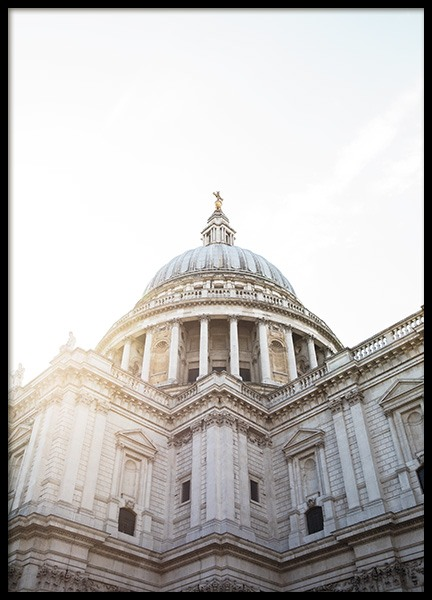 St Paul's Cathedral Poster i gruppen Posters  / Studio Collections / Studio Cosmopolitan / London hos Desenio AB (11357)