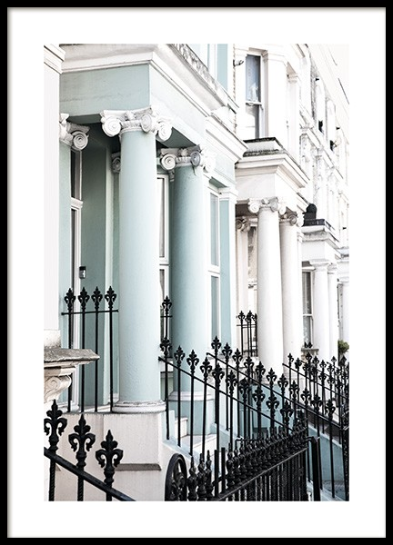 Notting Hill Facade Poster i gruppen Posters  / Studio Collections / Studio Cosmopolitan / London hos Desenio AB (11367)