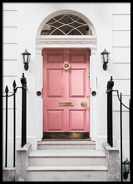 London Pink Door Poster i gruppen Posters  / Studio Collections / Studio Cosmopolitan / London hos Desenio AB (11368)