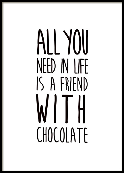Friends and Chocolate Poster i gruppen Posters  / Barntavlor hos Desenio AB (11443)
