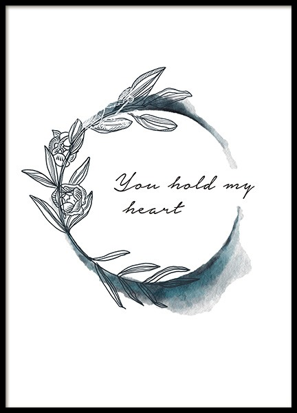 You Hold My Heart Poster i gruppen Posters  / Barntavlor hos Desenio AB (11445)