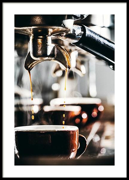Espresso Drops Poster