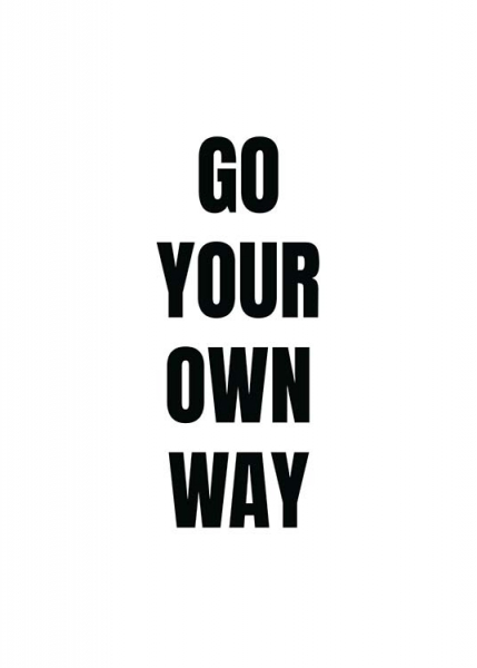 Your Own Way Poster i gruppen Posters  / Storlekar / 50x70cm hos Desenio AB (11699)