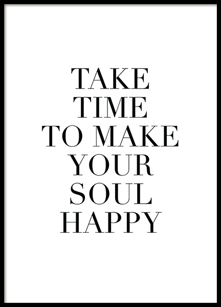 Make Your Soul Happy Poster