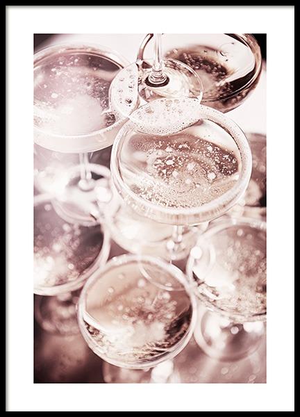 Champagne Blush Poster